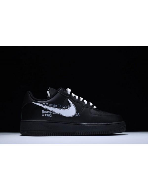 2018 Off-White x Nike Air Force 1 '07 Black White ...