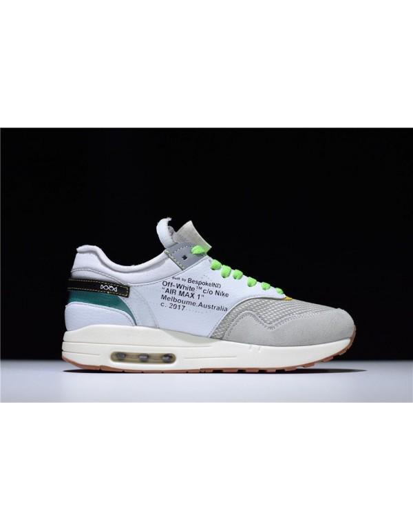 BespokeIND Nike Air Max 1 Custom White Grey Virgil...