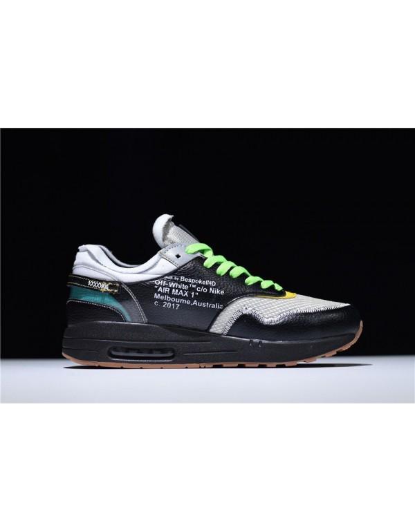 BespokeIND x Off-White x Nike Air Max 1 in Black M...