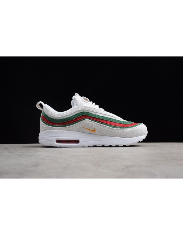 Men's and Women's Nike Air Max 1/97 VF SW White/Re...