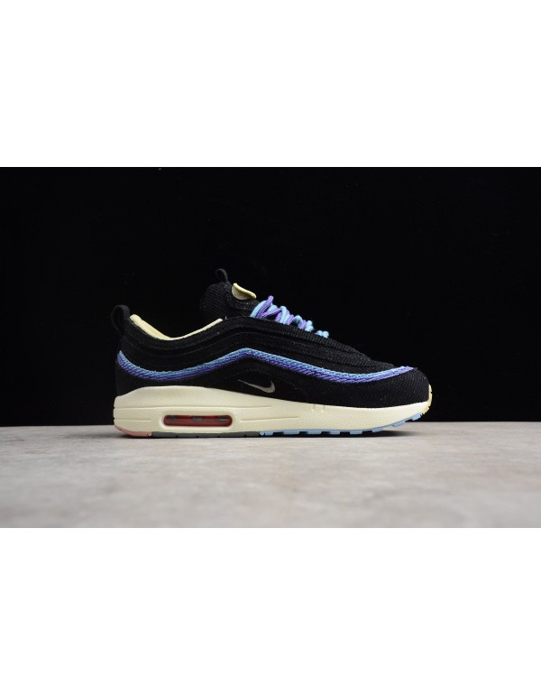 Men's and Women's Nike Air Max 1/97 VF SW Black/Bl...