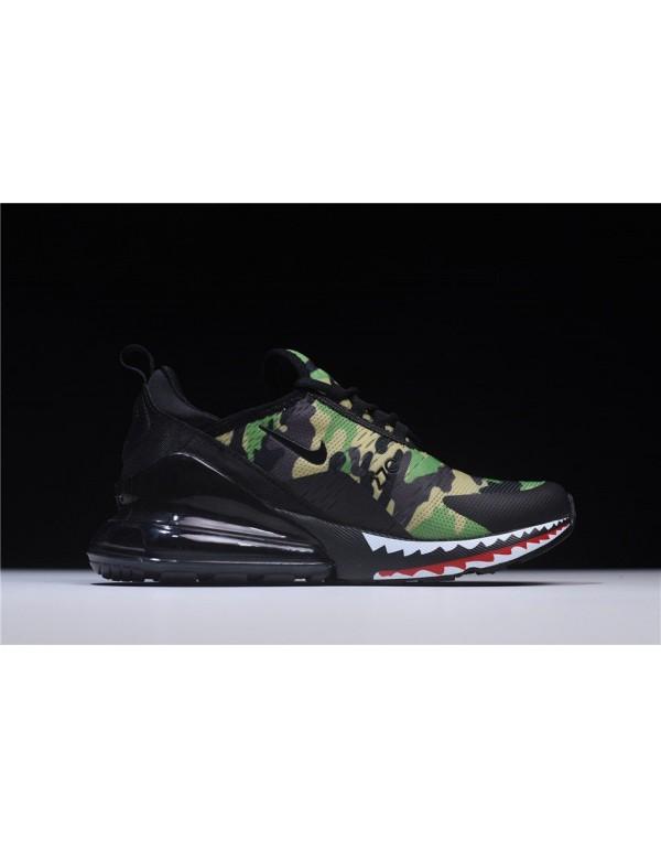 BAPE x Nike Air Max 270 Camo Mens Running Shoes AH...