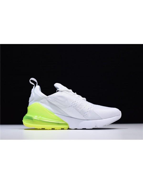 Men's and Women's Nike Air Max 270 White Volt Runn...