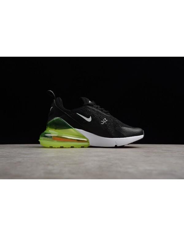 Men's and Women's Nike Max 270 Black/Volt-White AH...