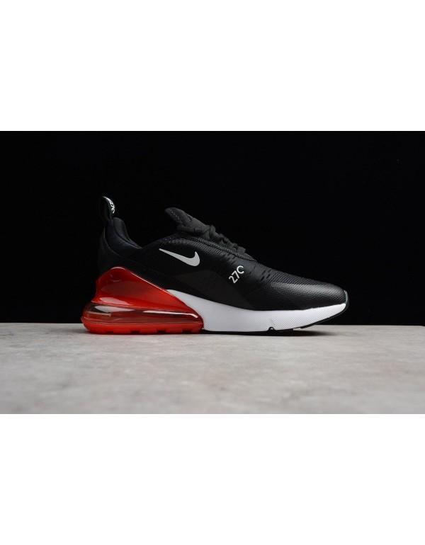 Men's Nike Air Max 270 BIG LOGO Black Yellow Red R...
