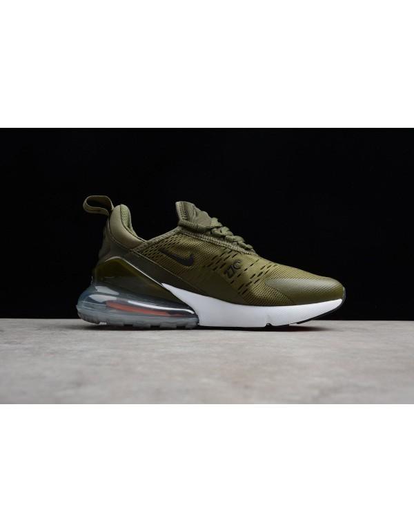Men's Nike Air Max 270 Medium Olive/Black-Total Or...
