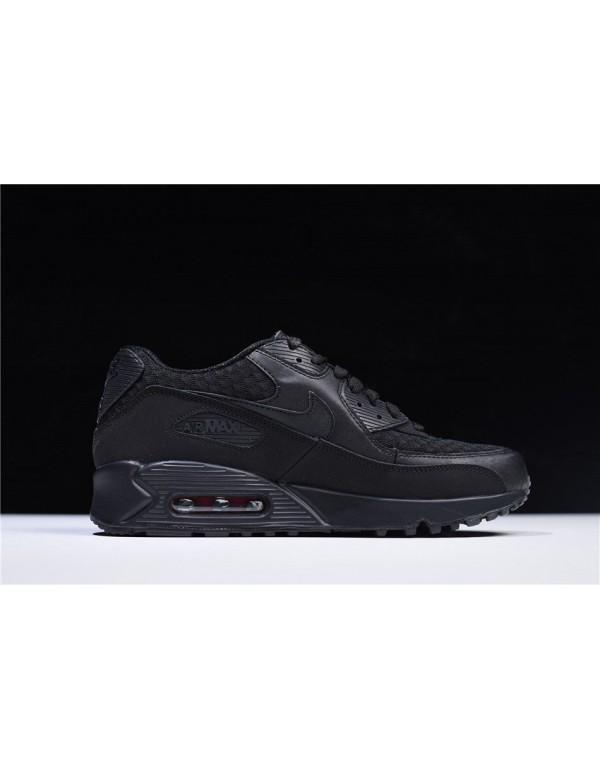 Nike Air Max 90 Essential Black/Metallic Silver-Re...