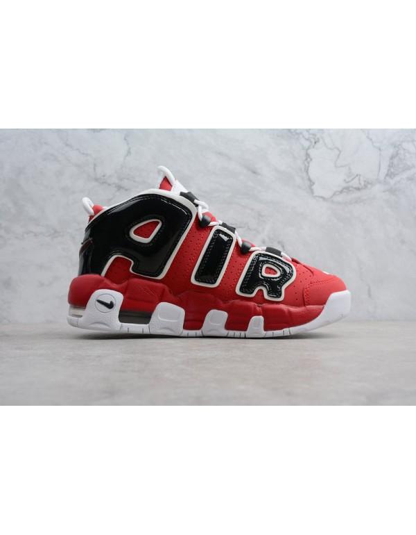 Nike Air More Uptempo Bulls Varsity Red/White-Blac...