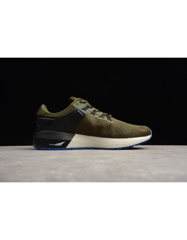 Nike Air Zoom Structure 22 Olive/Black-White AA163...