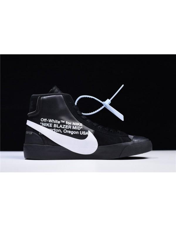 2018 OFF-WHITE x Nike Blazer Mid Grim Reepers Blac...