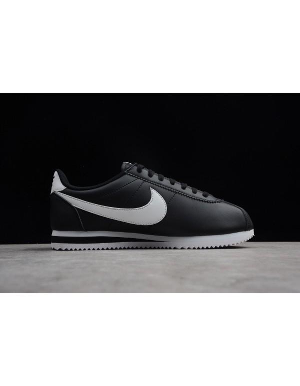 Nike Classic Cortez Leather Black/White Men's and ...