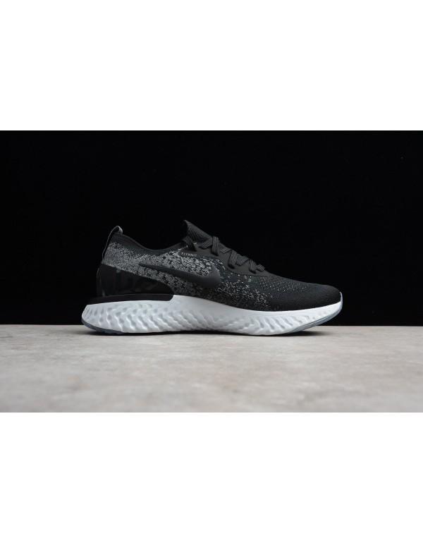 Buy Nike Epic React Flyknit Black/Dark Grey-Pure P...