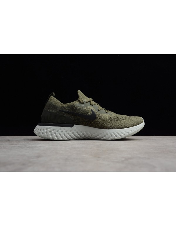 Men's and Women's Nike Epic React Flyknit Olive AQ...