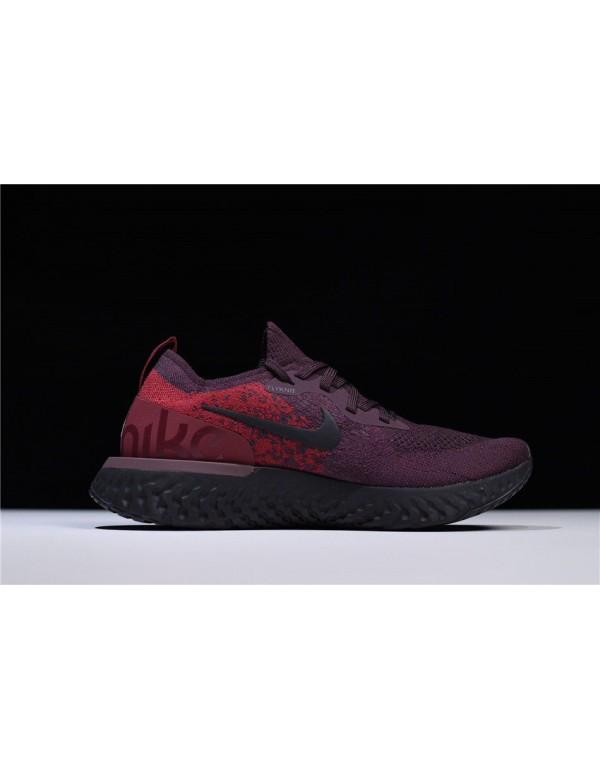 Men's Nike Epic React Flyknit Wine Red/Dark Red-Bl...