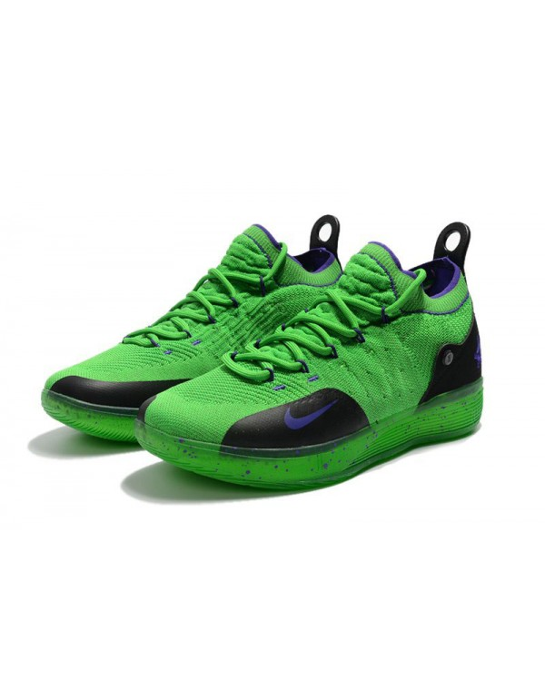 Kevin Durant's Nike KD 11 Green/Black-Purple For S...