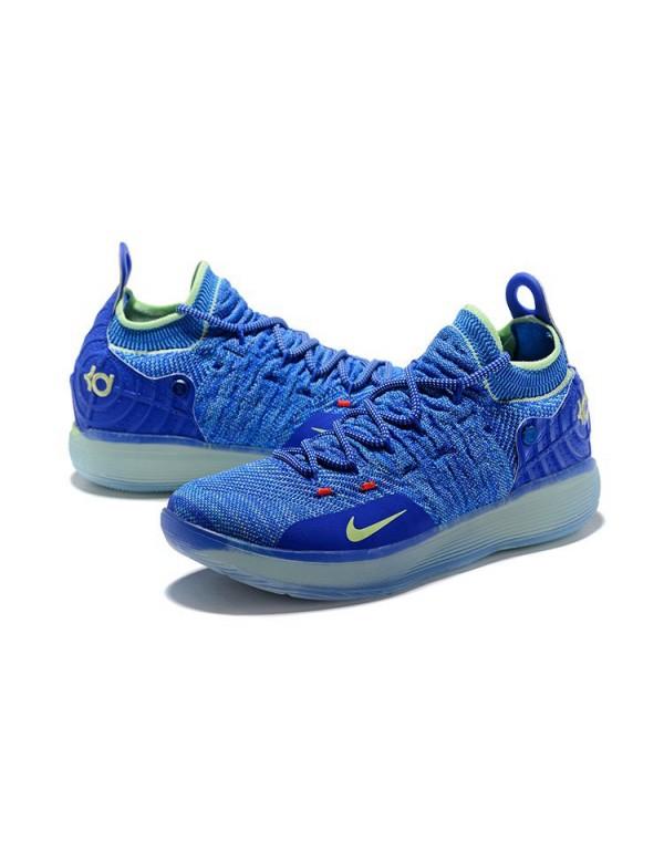 Kevin Durant's Nike KD 11 Paranoid Bright Blue/Vol...