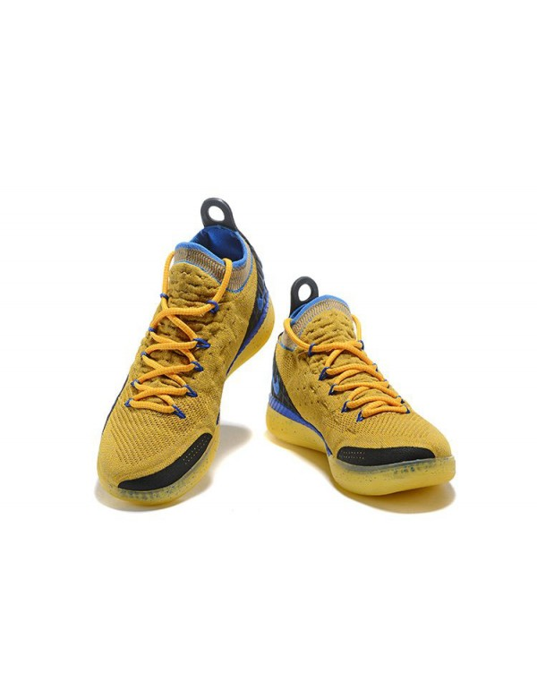 Kevin Durant's Nike KD 11 Yellow/Black-Blue Shoes ...