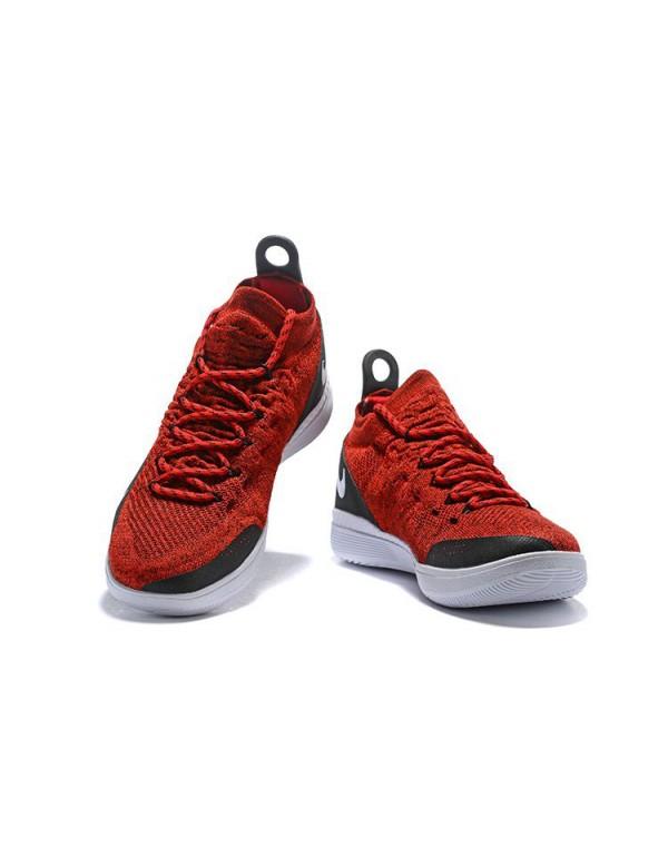 Latest Nike KD 11 University Red/Black-White Men's...