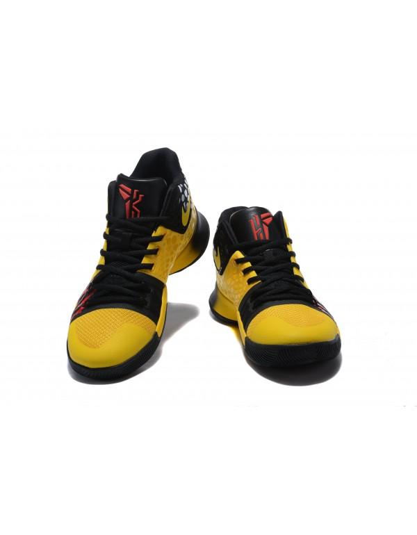 Bruce Lee Nike Kyrie 3 Mamba Mentality Tour Yellow...