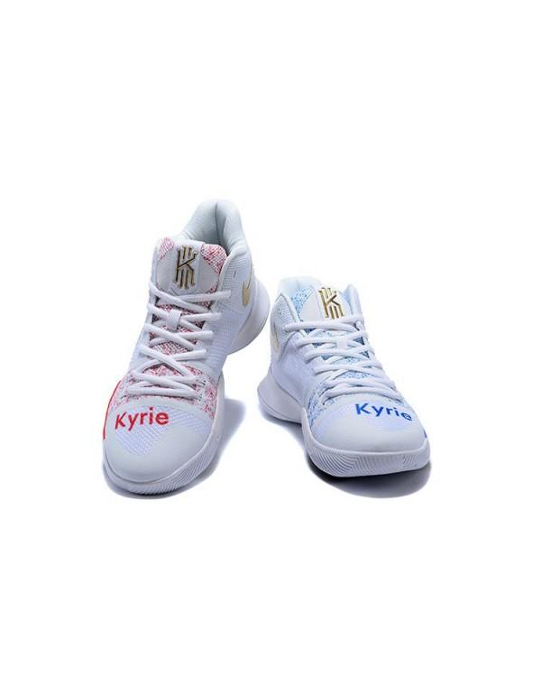 Custom Nike Kyrie 3 Coca-Cola Men's Basketball Sho...