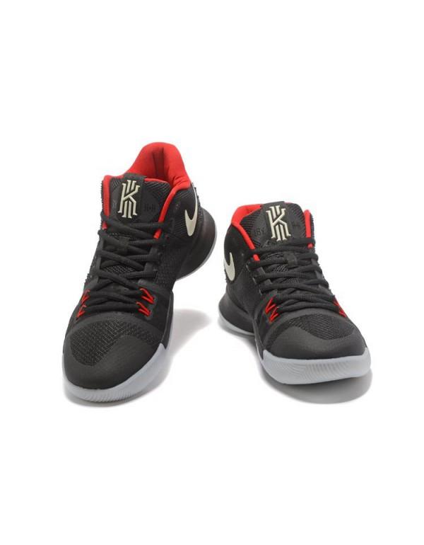 Glow in the Dark Nike Kyrie 3 Black Red Men's Bask...