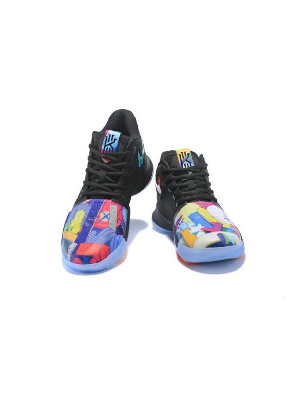 KAWS x Nike Kyrie 3 Black/Multi-Color Men's Basket...