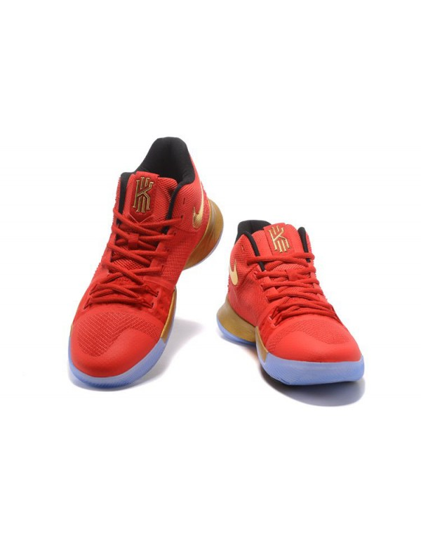 Kyrie Irving Nike Kyrie 3 Red/Metallic Gold-Black ...