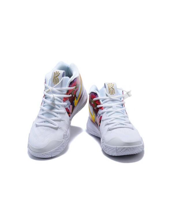 KAWS x Nike Kyrie 4 White/Multi-Color Flower Print...