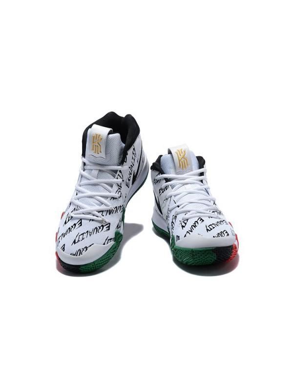 Men's Nike Kyrie 4 BHM Multi-Color Equality Basket...