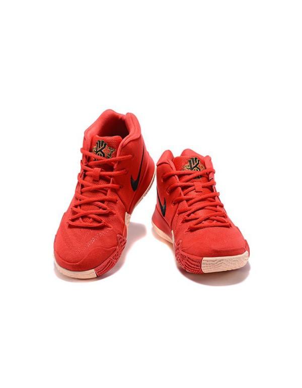 Men's Nike Kyrie 4 CNY University Red/Black-Team R...