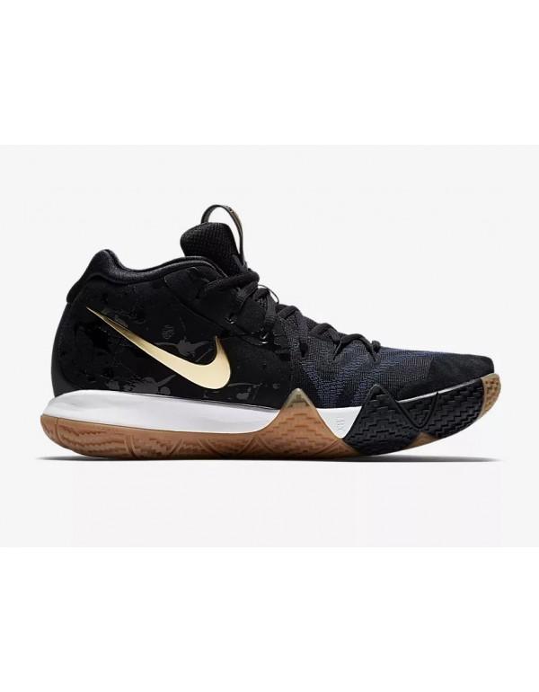 Men's Nike Kyrie 4 Pitch Blue/Metallic Gold Basket...