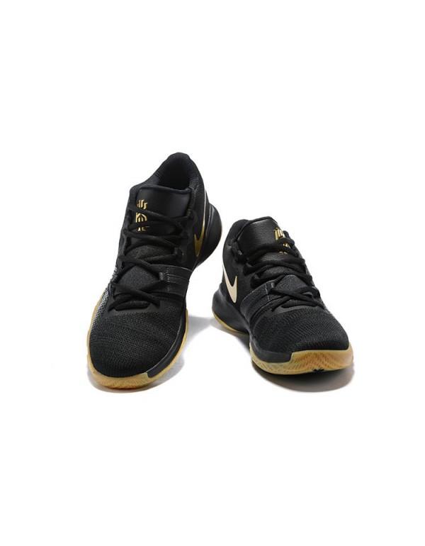 Men's Nike Kyrie Flytrap Black/Gum-Metallic Gold F...