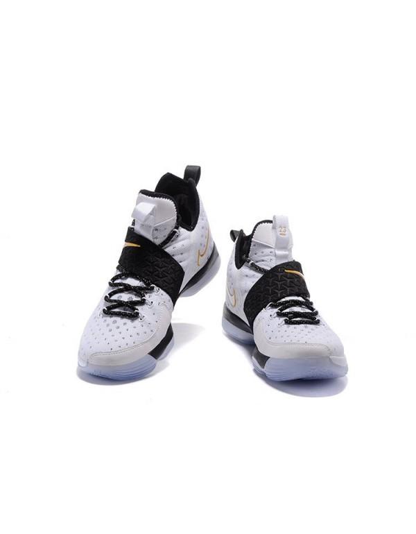 Men's Nike LeBron 14 BHM White/Metallic Gold-Black...