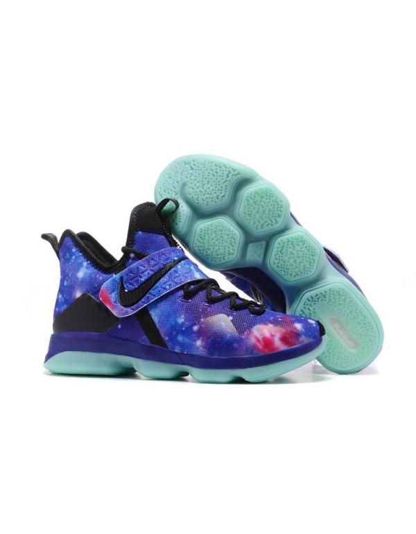 Men's Nike LeBron 14 Galaxy Glow In The Dark Baske...