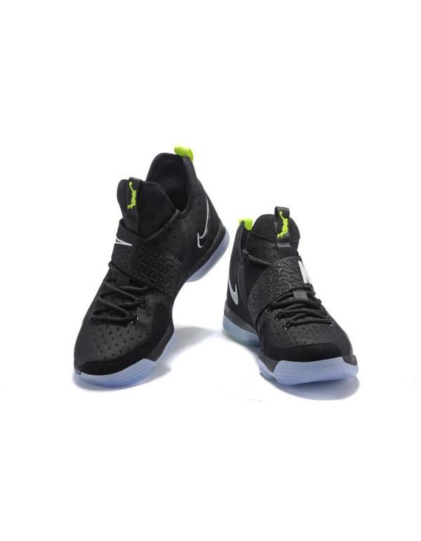 Nike LeBron 14 Black/Fluorescent Green-White Men's...