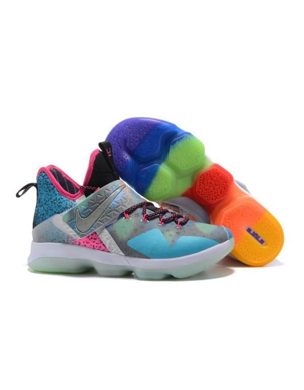 Nike LeBron 14 Colorful Men's Basketball Shoes Fre...