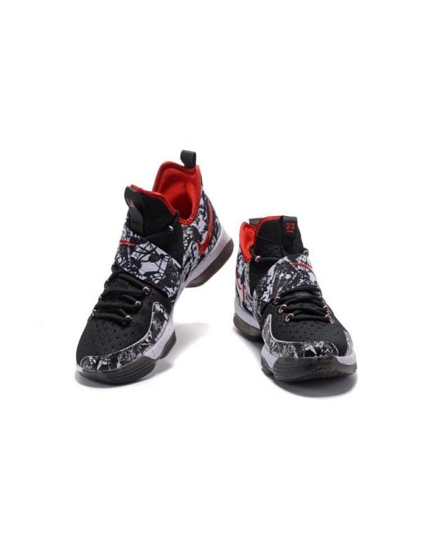 Nike LeBron 14 Graffiti Black/White-University Red...