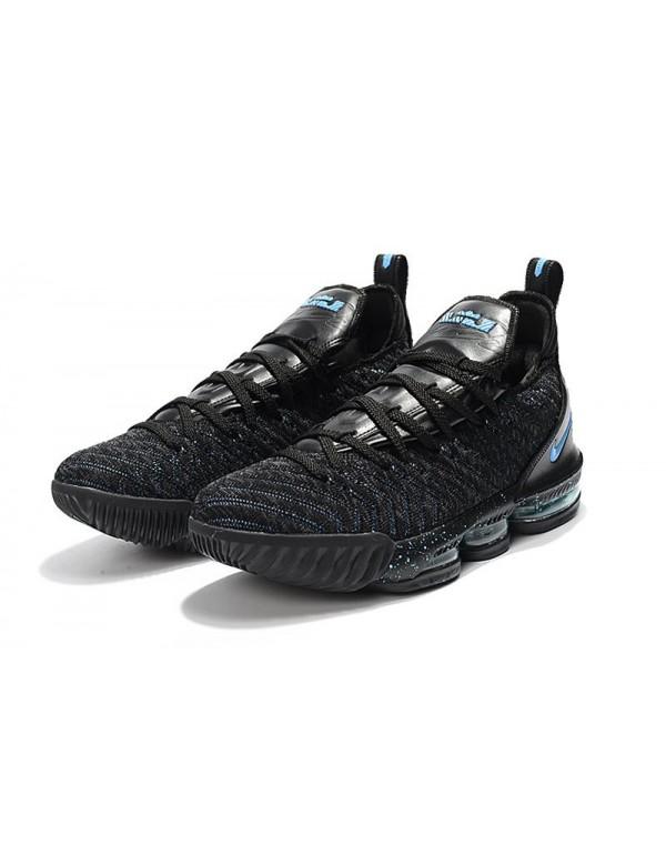 Men's Nike LeBron 16 BHM Black Blue For Sale