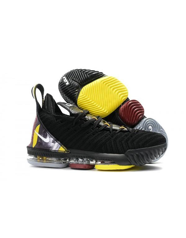 Nike LeBron 16 Black/Yellow-White For Sale