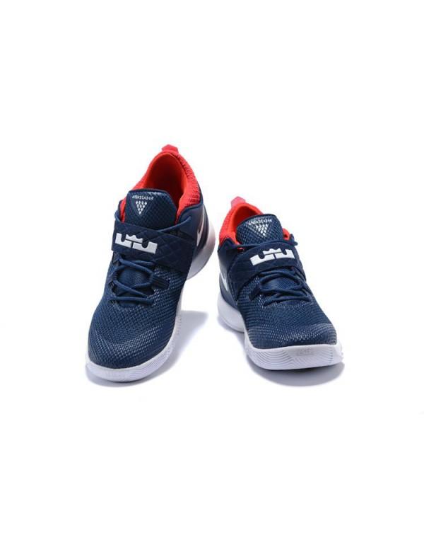 Nike LeBron Ambassador 10 USA Navy White Red Free ...