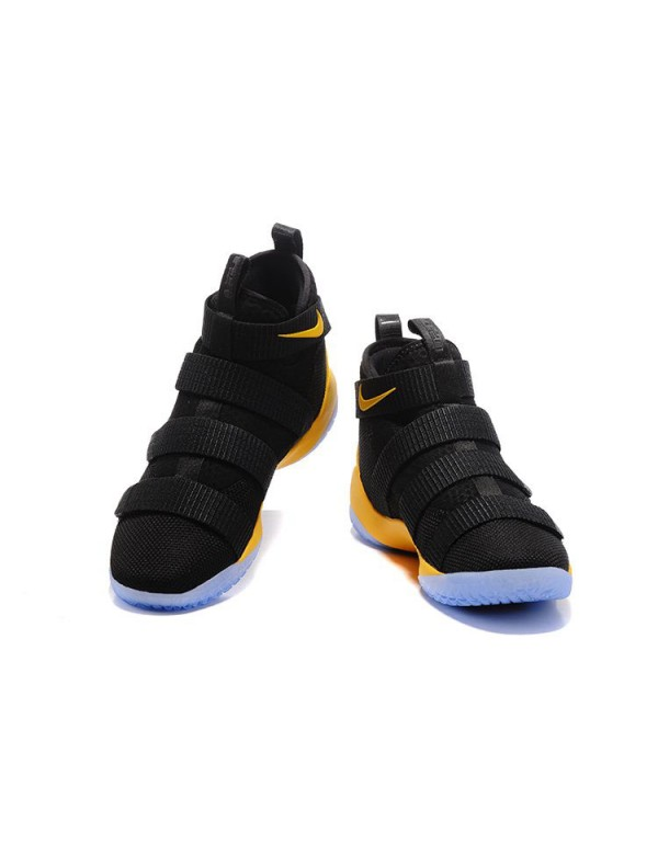 Nike LeBron Soldier 11 Black Yellow Cavs PE Basket...