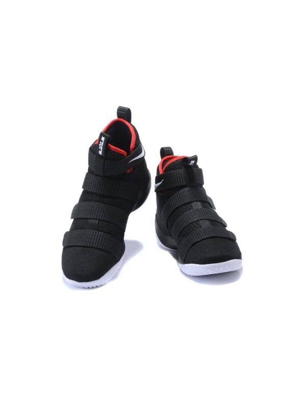 Nike LeBron Soldier 11 Bred Black/White-University...