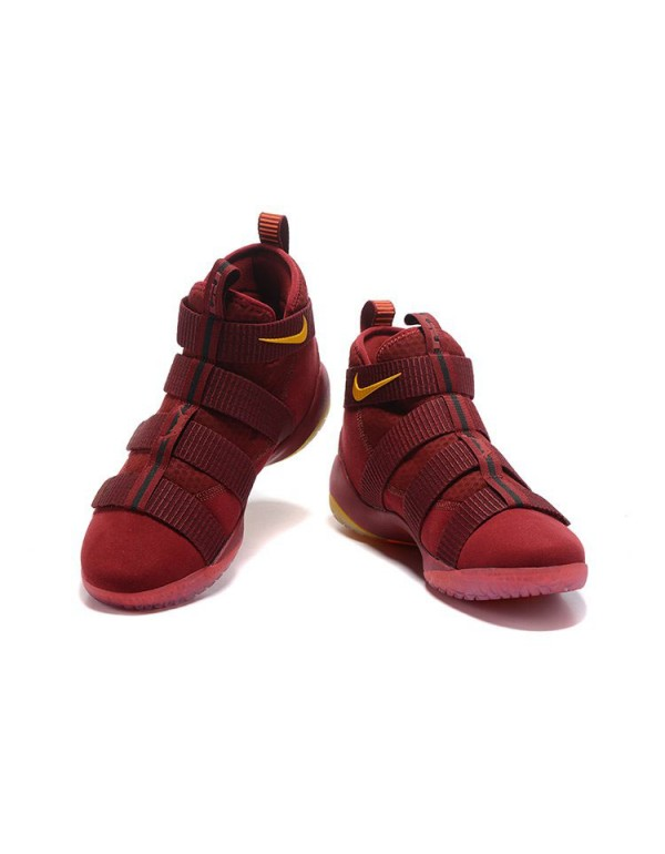 Nike LeBron Soldier 11 Cavs PE Wine Red/Gold For S...