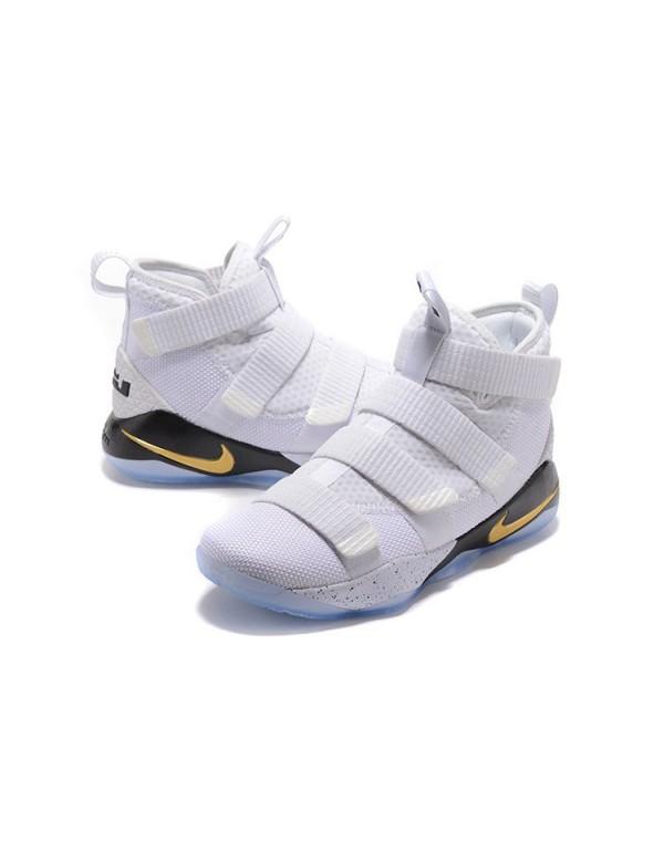 Nike LeBron Soldier 11 Court General White/Metalli...