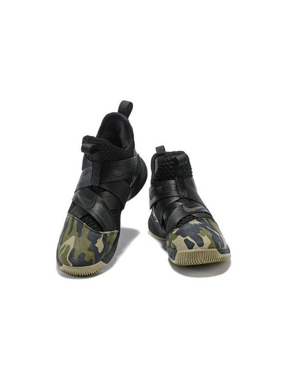 Men's Nike LeBron Soldier 12 SFG Camo Black/Black-...