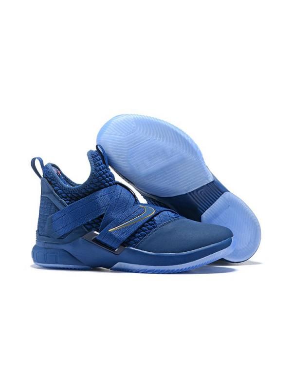Nike LeBron Soldier 12 Agimat Blue/Gold AO4054-500