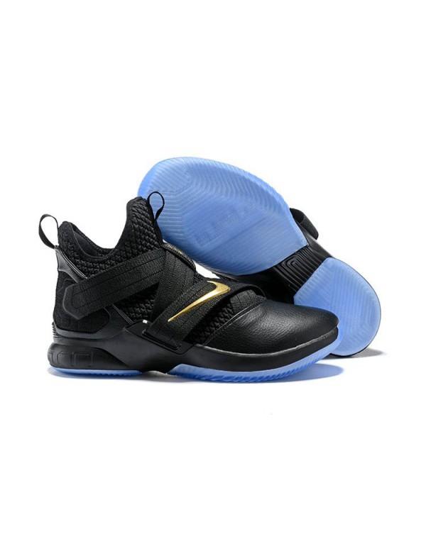 Nike LeBron Soldier 12 Black/Metallic Gold For Sal...