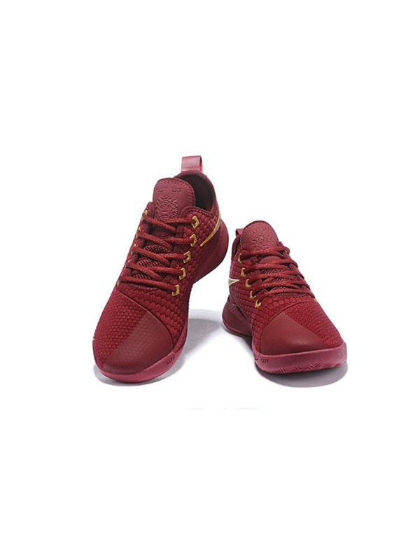 Nike Lebron Witness 3 Red Wine/Metallic Gold For S...