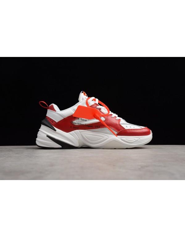 2018 Off-White x Nike M2K Tekno Red White Black A0...
