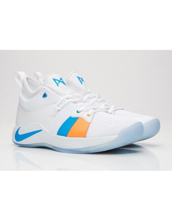New Nike PG 2 The Bait II White/Photo Blue AJ2039-...
